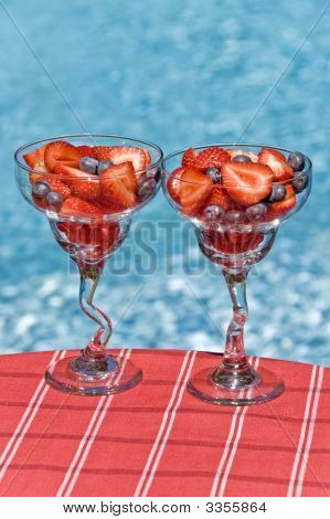 Glasses Of Freshberries