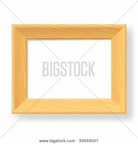 Realistic wooden frame