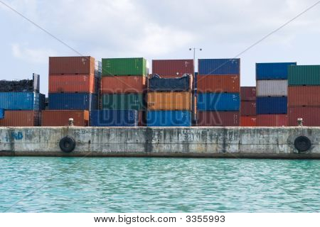 Containers On Dock