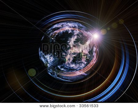 Earth Trails Composition