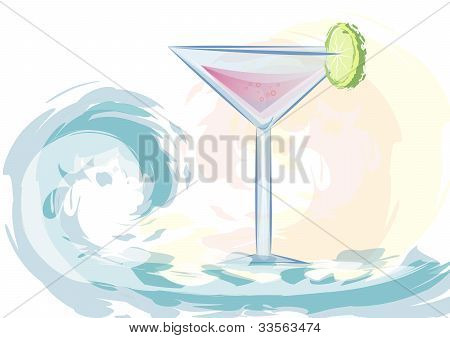 hand draw cocktail