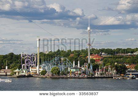 Amusement Park (Gröna Lund) In Stockholm, Sweden