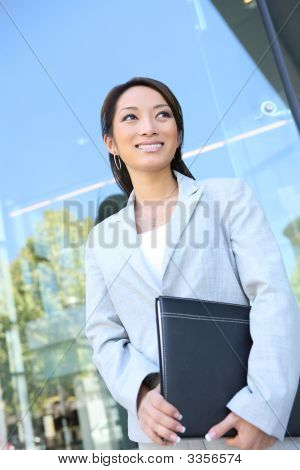 Young Pretty Asian Business Woman