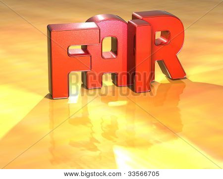 Word Fair On Yellow Background