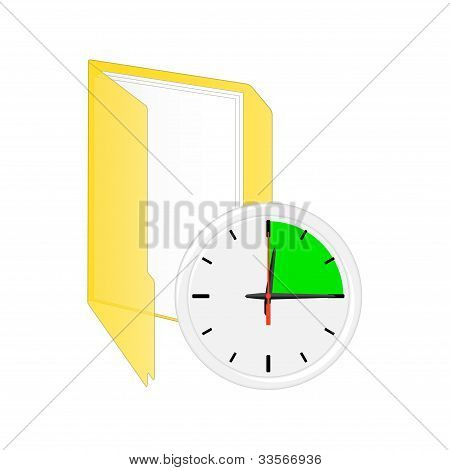 Scheduler Icon. Vector Illustration