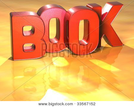 Word Book On Yellow Background