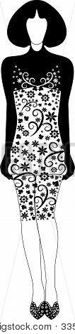 Stylish dress with a decorative pattern