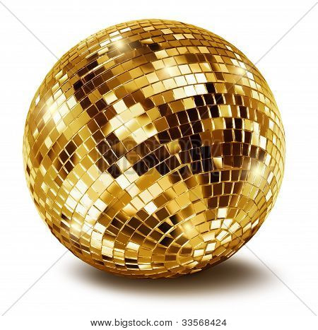 Golden Disco Mirror Ballall