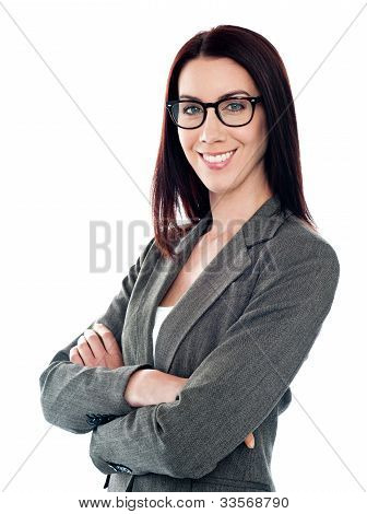 Successful Corporate Lady Posing