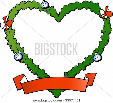 Hand-drawn Vector Illustration Of An Christmas Decoration Fraim