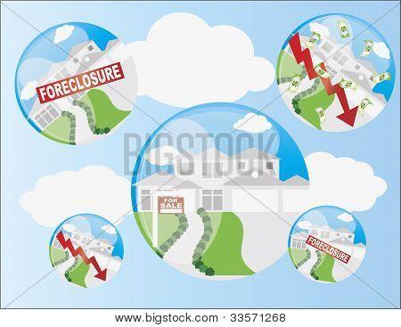 Home Housing Bubble Illustration