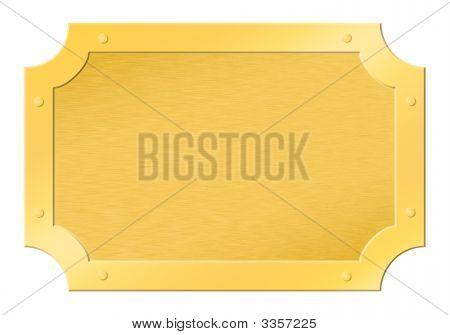 Brushed Golden Framed Tablet Cutout