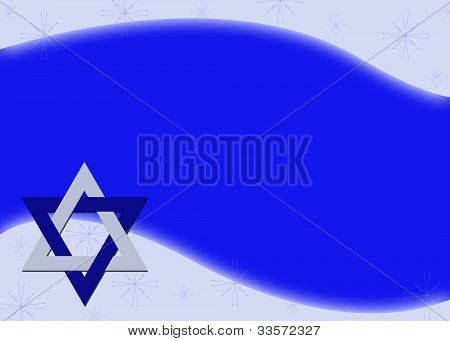 Hanukkah Star Of David Background