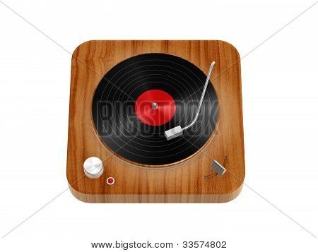 Wooden Phonograph