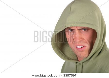 Angry Man In Hood