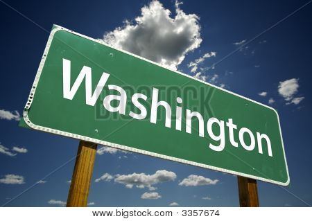 Washington Road Sign