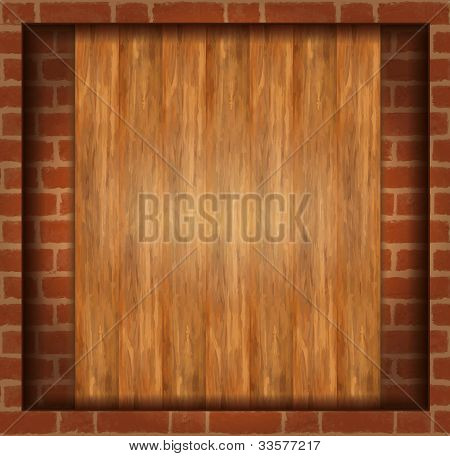 Background Wood Brick Wall