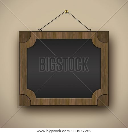Frame Old Wood Blackboard