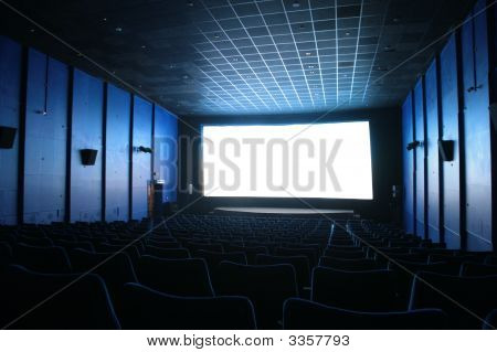 Empty Hall Of Cinema