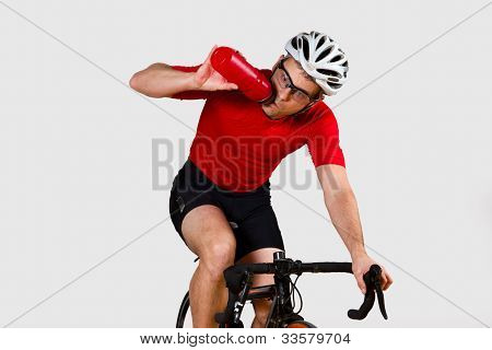 cyclist on a racebike
