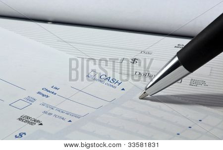 Filling Out Deposit Slip