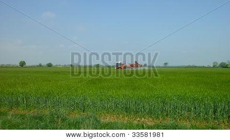 A crop sprayer in Lincolnshire