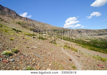 Trail Through A High Altitude Scree Slope