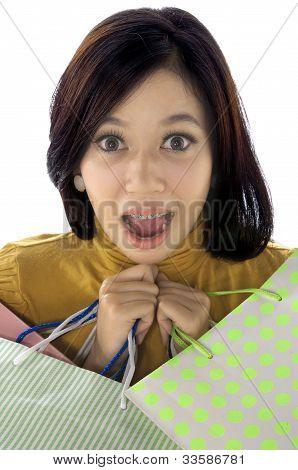 Shopping Woman Shock