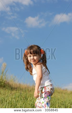 The Girl On A Field