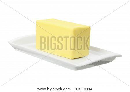 Platte mit butter