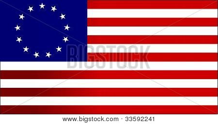 13 colonies flag us - illustration design