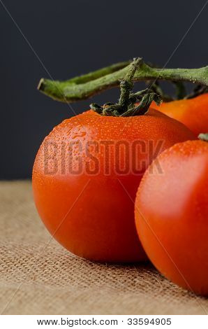 Closeup Of Cherry Tomatoes