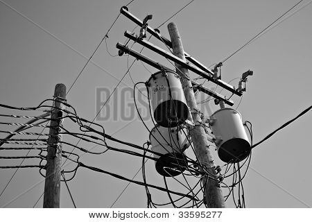 Utility Pole Wires