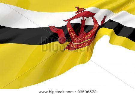 Illustration Flags Of Brunei