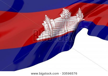 Illustration Flags Of Cambodia
