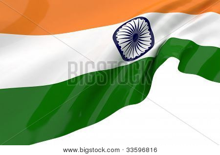 Illustration Flags Of India