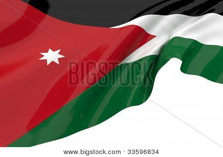 Illustration Flags Of Jordan