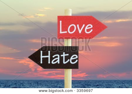 Love And Hate Abstract