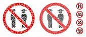 No Gentlemen Mosaic Of Joggly Parts In Variable Sizes And Color Hues, Based On No Gentlemen Icon. Ve poster