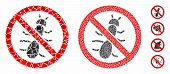 No Ant Composition Of Joggly Elements In Variable Sizes And Color Tinges, Based On No Ant Icon. Vect poster