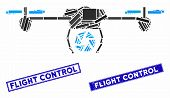 Mosaic Shutter Spy Airdrone Pictogram And Rectangular Seal Stamps. Flat Vector Shutter Spy Airdrone  poster