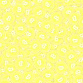 Bitcoin, Internet Currency Gold Coins Seamless Pattern. Ravishing Scattered Yellow Btc Coins. Succes poster
