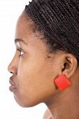 pic of human ear  - Portrait of a beautiful African girl with braids - JPG