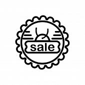 Black Line Icon For Sale-badge Sale Badge Tomcat Insignia Male-cat poster