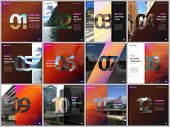 Minimal Brochure Templates With Numbers. Easy To Edit And Customize. Covers Design Templates For Squ poster