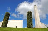 The Inner Circle Of The Armed Forces Memorial, National Memorial Arboretum, Alrewas, Staffordshire,  poster