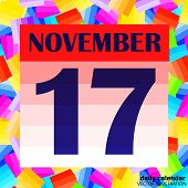 November 17 Icon. For Planning Important Day. Banner For Holidays And Special Days. Seventeenth Of N poster