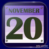 November 20 Icon. For Planning Important Day. Banner For Holidays And Special Days. November 20th Ic poster