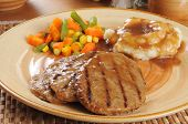 Salisbury Steak With Potatoes And Gravy