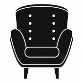 Comfort Armchair Icon. Simple Illustration Of Comfort Armchair Vector Icon For Web Design Isolated O poster
